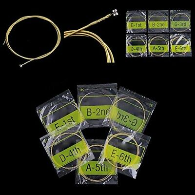 $ CDN2.60 • Buy 6Pcs/Set Guitar Strings Gold Plating Super Classic Acoustic Guitar Accessories