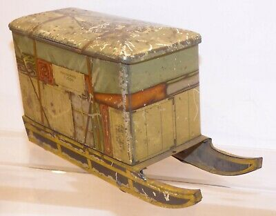 BIN04 Jacobs Biscuits Tin - Polar Exhibition Sled 185mm Long • 184.99£