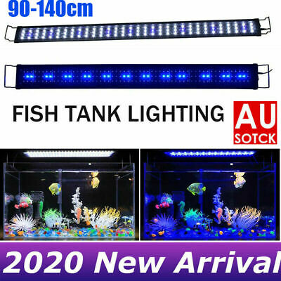 AU44.99 • Buy 90 -140 CM Aquarium LED Lighting 3ft/4ft Marine Aqua Plant Fish Tank LED Black