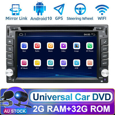 AU262.99 • Buy 6.2  Android 10.0 Double 2Din CD/DVD Player Radio Stereo Head Unit GPS Car Play