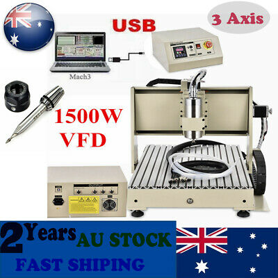 AU1229 • Buy USB 3 Axis 6040 CNC Router Engraver Wood 3D Cutting Mill Drill Machine 1.5KW VFD