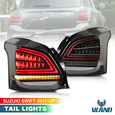 AU359.99 • Buy Smoked Full LED Tail Lights For 2017-2019 Suzuki Swift Sport With Sequential