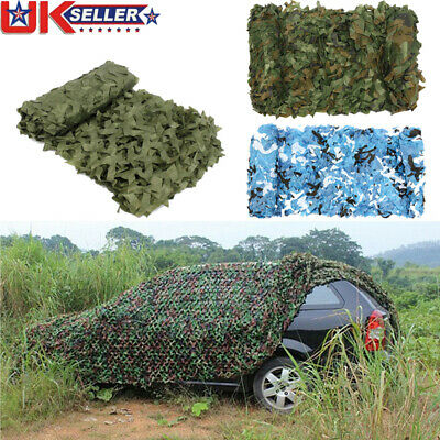 Woodland Stealth Camouflage Camo Net Cover Shooting Hunting Army Hide Colors UK • 5.99£