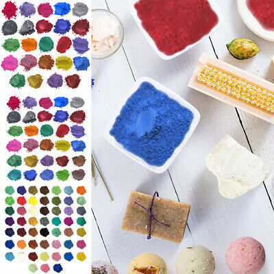 £8.99 • Buy 24-52 Color Mica Pigment Powder Perfect For Soap Cosmetics Resin Colorant Dye UK