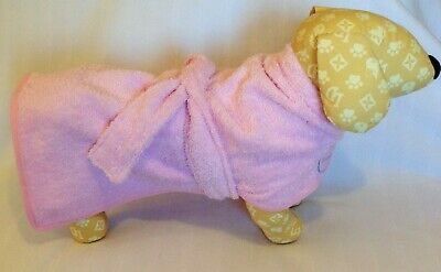 £15 • Buy Dog Drying Coat / Robe Toweling Choice Of Colours And Sizes