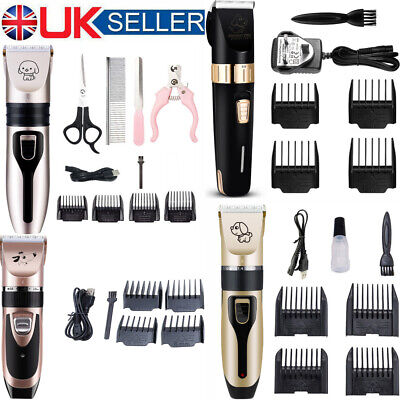 Pet Cat Dog Grooming Hair Clipper Trimmer Shaver Cordless Shave Kit Professional • 7.99£