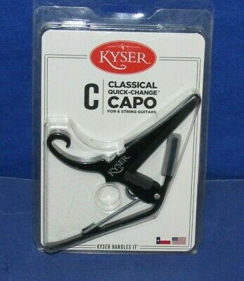 $ CDN25.22 • Buy Kyser KGCB Quick Change Capo For Classical Guitars Black NEW