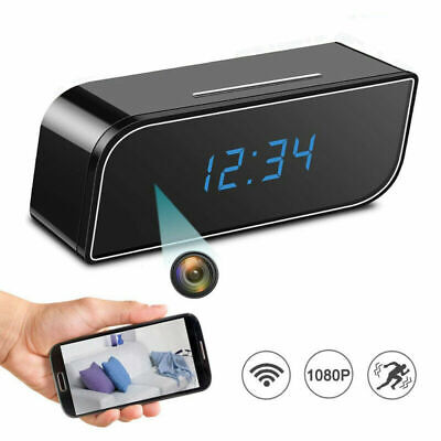 AU55.56 • Buy WiFi Camera Alarm Clock Night Vision Motion Detective Home Office Security DVR