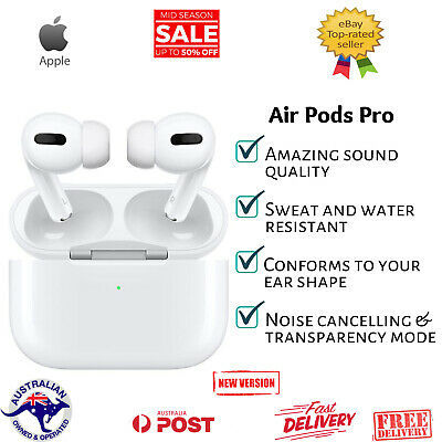 AU199.99 • Buy Apple Airpods Pro With Wireless Charging Case Generation Original Air Pods