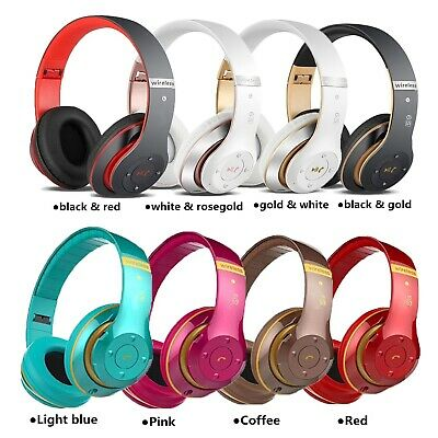 £10.99 • Buy Wireless Bluetooth Headphones With Noise Cancelling Over-Ear Stereo Earphones UK