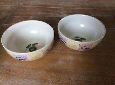 2 X MARKS AND SPENCER HOME POTTERY ST MICHAEL WILD FRUITS Dessert Bowls • 4£