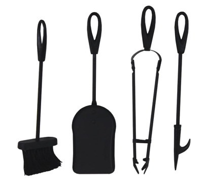 £25.99 • Buy 5 Pieces Log Burner Set Fireside Companion Fire Tool Kit Fireplace Accessories