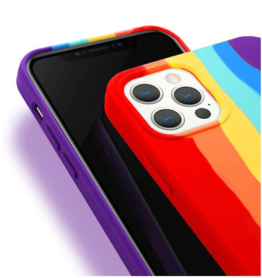 AU8.95 • Buy New! For IPhone 12 Pro Max Rainbow Case Cover Liquid Silicone Back Cover