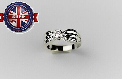 Solid Silver 925 Ladies Ring UK Handmade Size Available+ Gift Box • 37.99£