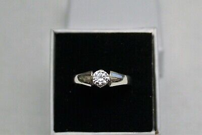 Silver 925 Ladies Ring With Gemstone Made In UK All Size Available + Gift Bag • 18.99£