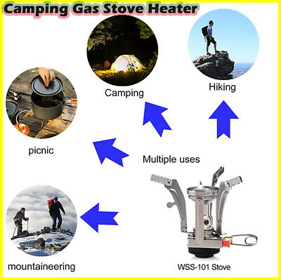 £19.12 • Buy Camping Gas Stove Heater Tourist Burner Foldable Outdoor Kitchen Equipment