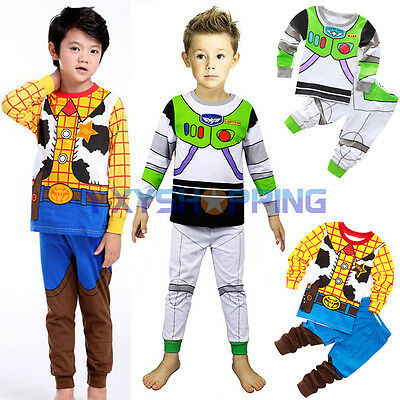 £14.15 • Buy Baby Toy Story Buzz Lightyear Woody Pajamas Outfit Cosplay Costume Fancy Dresses
