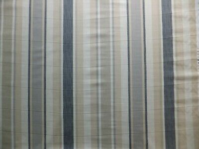 £48 • Buy LAURA ASHLEY Awning Stripe Charcoal Fabric 2.1 Meters