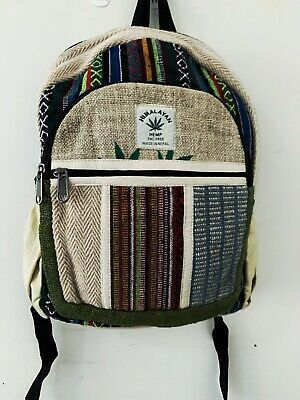 AU45 • Buy Unisex Small Hemp Backpack| Himalayan Hemp Bag For School, Gym, Festival, Travel