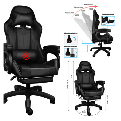 AU142.67 • Buy Gaming Chair Massage Swivel Recliner Electric Ergonomic Computer Office Chair