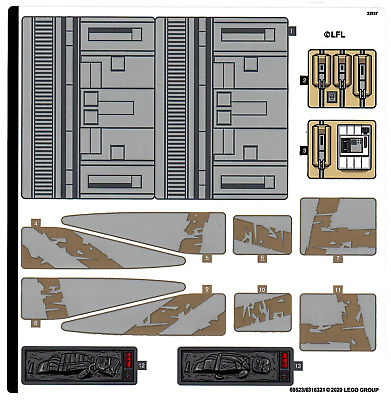 Lego Star Wars STICKER SHEET ONLY For  Lego Set 75292 The Razor Crest - New • 19.99£
