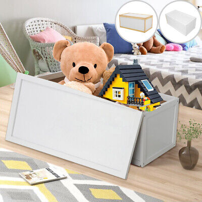 Wooden Toy Box Storage Unit Childrens Kids Chest Toyboxes Strong Toybox • 21.99£