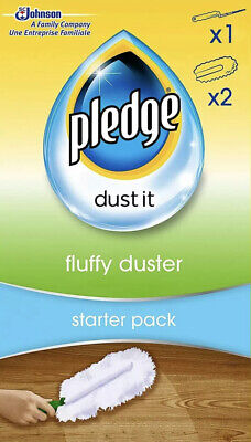 Pledge Fluffy Dusters Starter Kit Dry Dusting Cleaning Cloth Pack Or REFILL UK • 5.89£