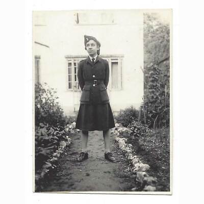 £4.95 • Buy WW2 Lady In Uniform Pictured In The Garden Vintage Photograph C1944