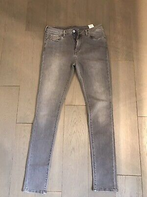 """Womens Pepe Grey Skinny """"Regent"""" Jeans W 31 Inches Leg 32 Inches • 1£"""
