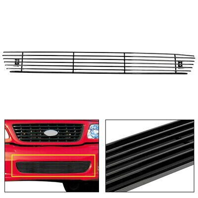 $24.87 • Buy Fits 2004-2005 Ford F150 Black Aluminum Lower Bumper Billet Grille Grill Insert