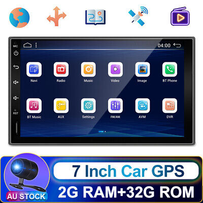 AU165.99 • Buy 7Inch 2.5D Android 10.0 Double 2Din Car Radio Stereo Head Unit GPS SAT NAV FM/AM