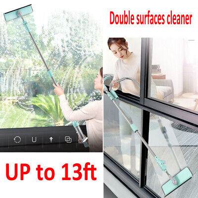 75CM-155CM Extendable Telescopic  Window Cleaner Glass Dust Clean Brush Squeegee • 12.79£