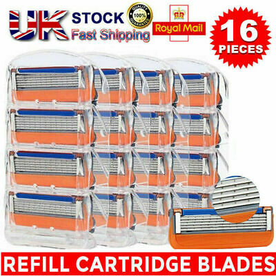 16Pcs For Gillette Fusion 5-Layer Men's Razor Blade Refills Replacement UK FAST • 5.49£