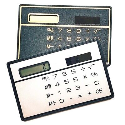 1PCS 8 Digits Ultra Thin Mini Slim Credit Card Solar Power Pocket Calculator • 5.99£