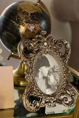£18.99 • Buy Oval Antique ShabbyChic Vintage Ornate Baroque Rococo Silver Picture Photo Frame