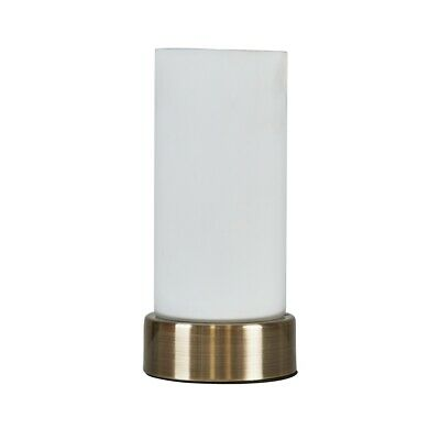 £13.99 • Buy MiniSun Touch Table Lamp - Gold Metal Bedside Light Frosted Glass Shade LED Bulb