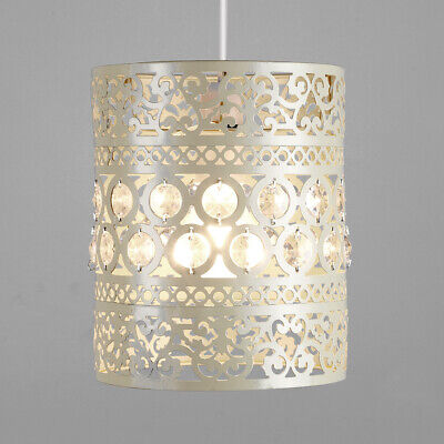 £16.99 • Buy Modern Cream Ornate Moroccan Style Metal Ceiling Pendant Light Shade Lampshade