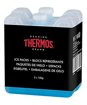 Genuine Thermos Mini Ice Pack Blocks 2 X 100g Ideal For Lunchboxes Cool Bags  • 3.70£