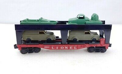 $39.99 • Buy Custom Made Lionel Trains 6801 Flat Car, Auto Carrier Structure, Military Cars