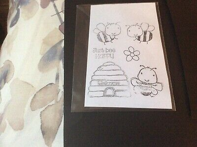 Woodware Just Bee Happy Stamps • 3£
