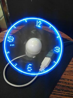 AU9.13 • Buy Blue Durable Adjustable USB Gadget Flexible LED Light USB Fan Time Clock Desktop