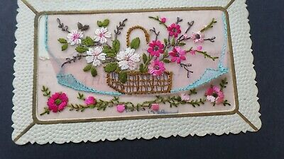 WW1 EMBROIDERED SILK Newyear To Wife -a38-24 • 3.99£
