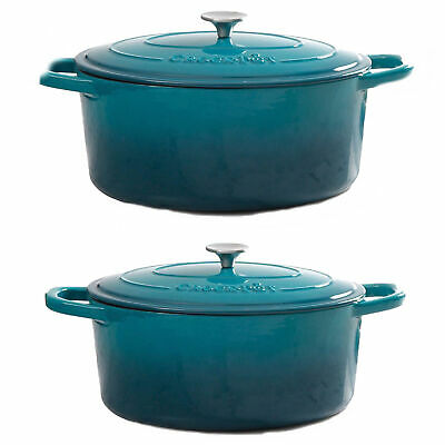 $ CDN169.99 • Buy Crock-Pot 5qt Round Enamel Cast Iron Dutch Oven Bundle With 7qt Oval Dutch Oven
