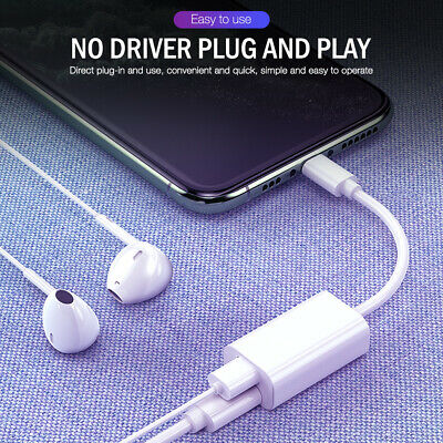 AU9.88 • Buy Earphone Headphone Jack Charger AUX Audio Adapter Cable For IPhone 12 11 Pro Max
