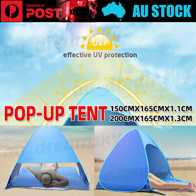 AU33.50 • Buy Pop Up Portable Beach Canopy Sun Shade Shelter Fishing Tent Mesh Outdoor Camping