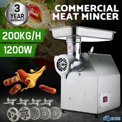 AU207.99 • Buy 1.63HP Commercial Meat Mincer- Electric Grinder & Sausage Maker Filler 1200W