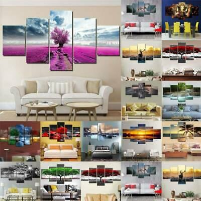 Unframed Canvas Wall Hanging Printing Picture Art Oil Home Decoration Pack Of 5 • 17.59£