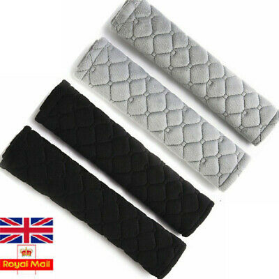 2PCS Car Seat Belt Cover Pads Car Safety Cushion Covers Strap Pad UK • 4.99£