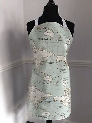 Adult/ladies Apron Cooking/craft Pvc Wipe Clean Workd Map Design. Ideal Gift • 8£