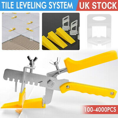 100-4000X Tile Leveling Spacer System Tool Clips & Wedges Flooring Lippage Plier • 22.99£
